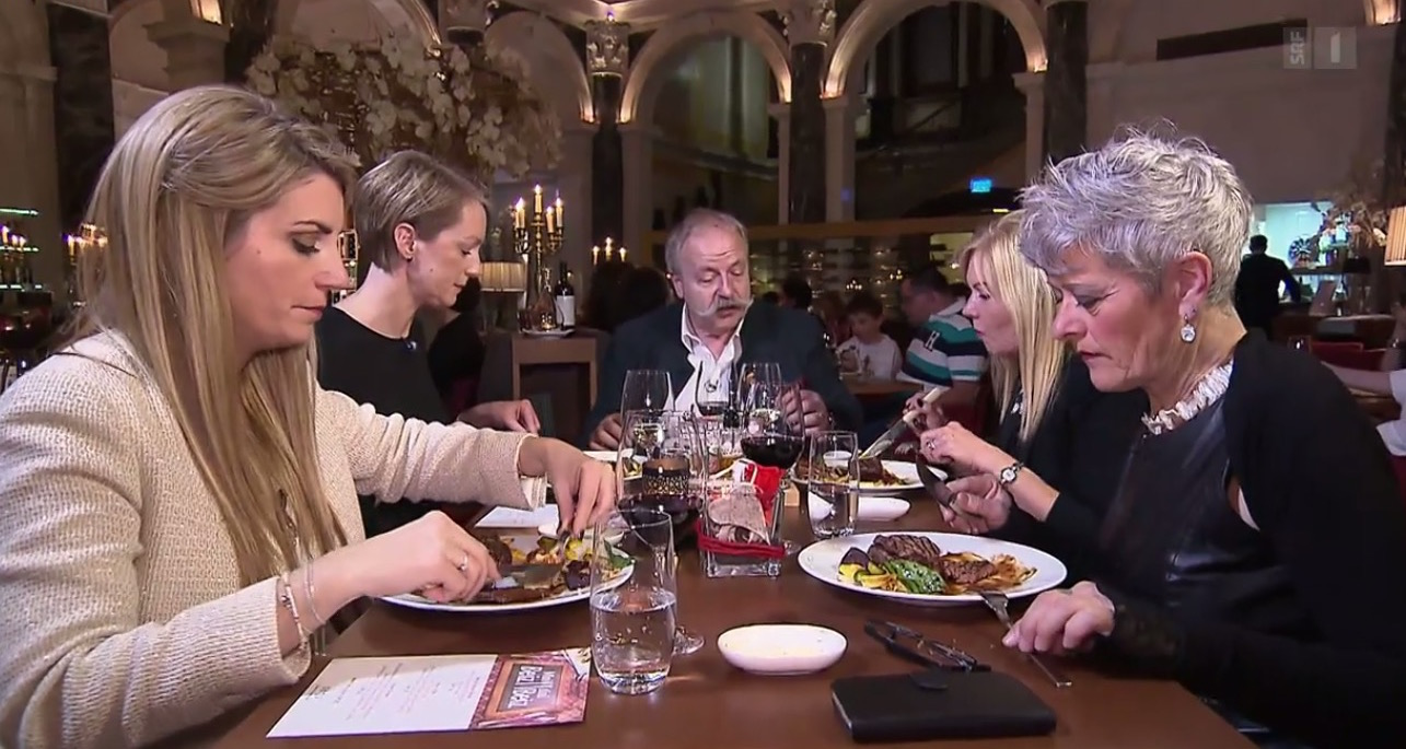 Die Gäste im Restaurant 1871.