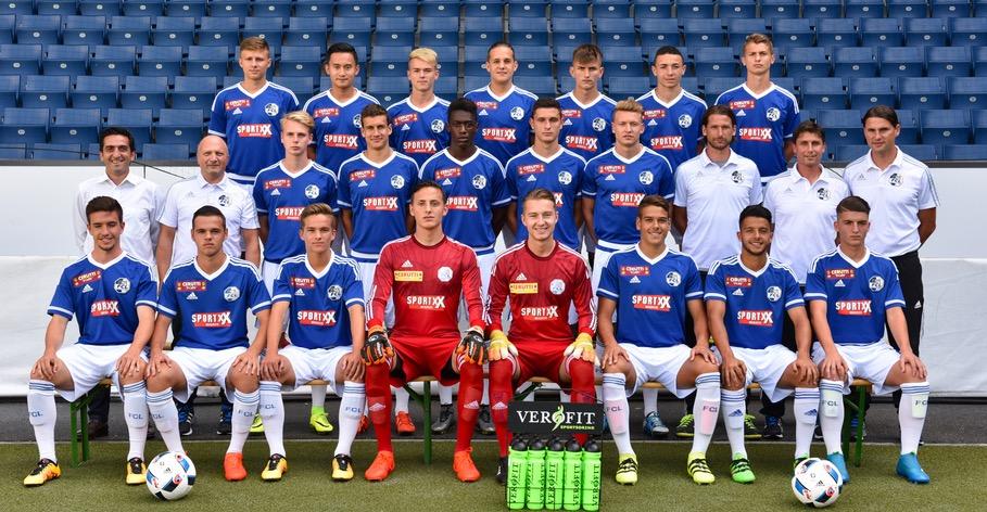 Das U21-Team des FCL. Seoane steht rechts in der mittleren Reihe.