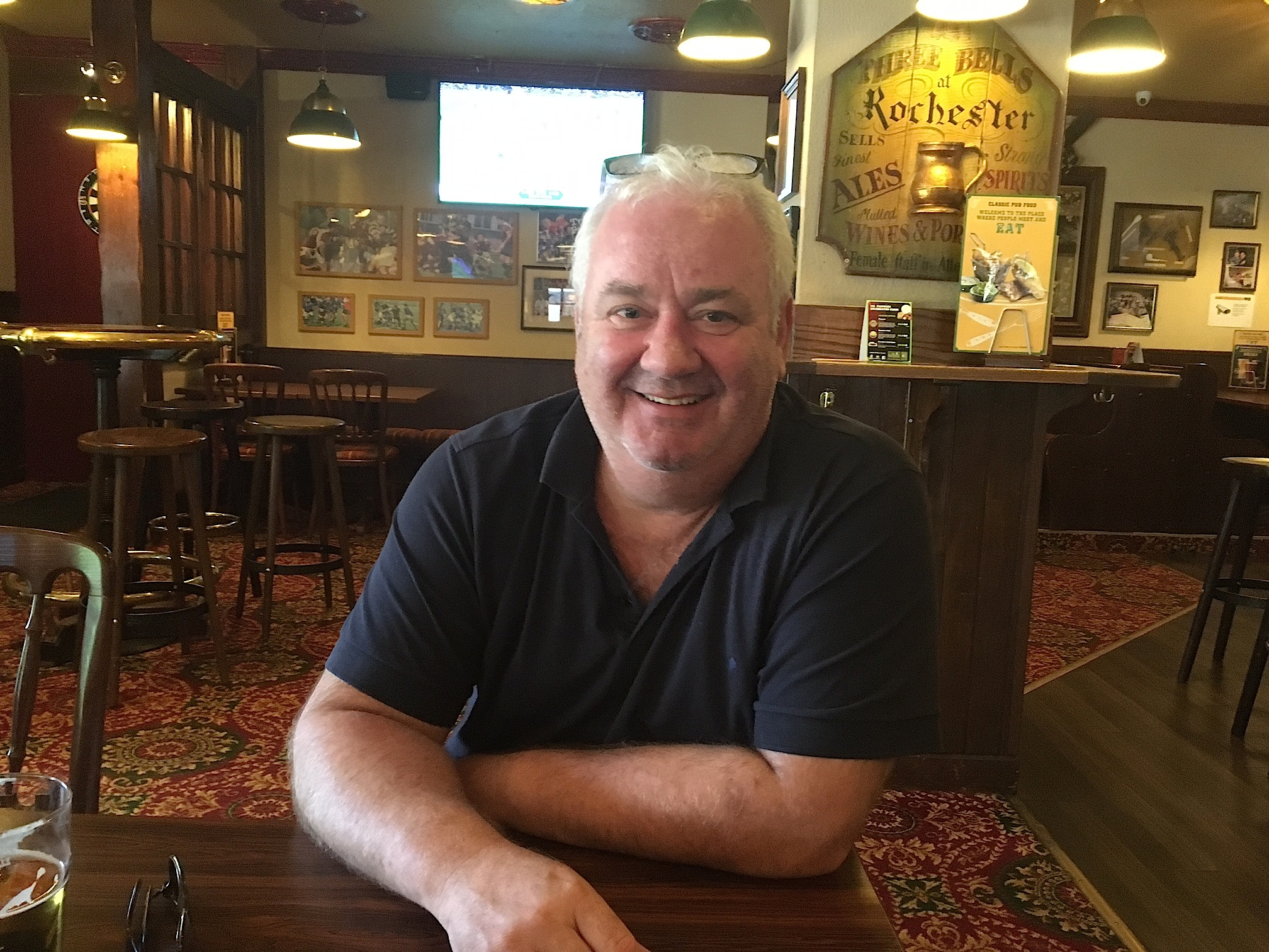 Der Engländer Andy Beaumont ist für May. «Corbys politische Rezepte stammen aus der Vergangenheit.»