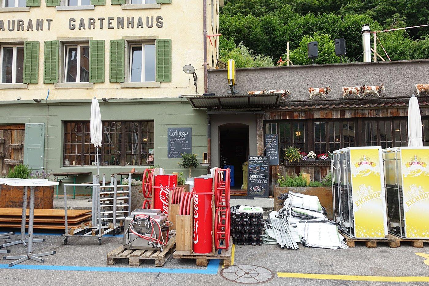 Das Restaurant Gartenhaus in der Lindenstrasse.