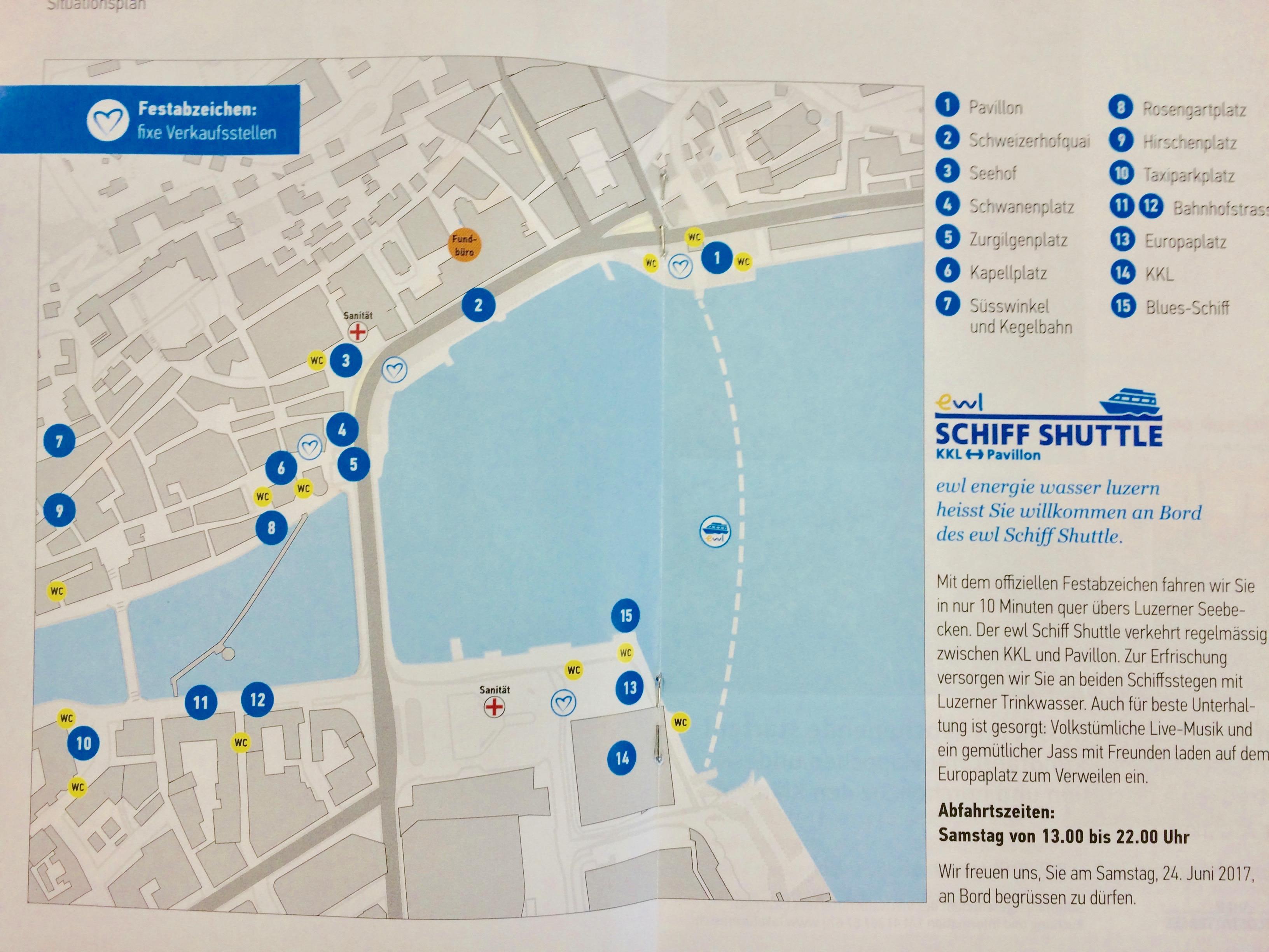 So sieht der Situationsplan des Luzerner Fests aus.
