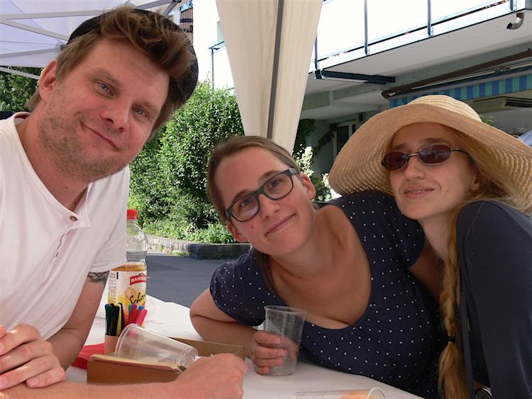 Haben sich am Tag der offenen Gesellschaft in Luzern gefunden: Henning, Petra und Alève (v.l.).