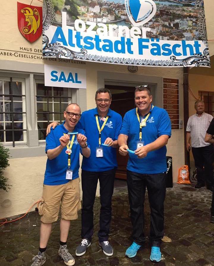 Matthias Lips, Alceo Benedetti und Guido Huber haben das Lozärner Altstadt Fäscht wieder ins Leben gerufen.