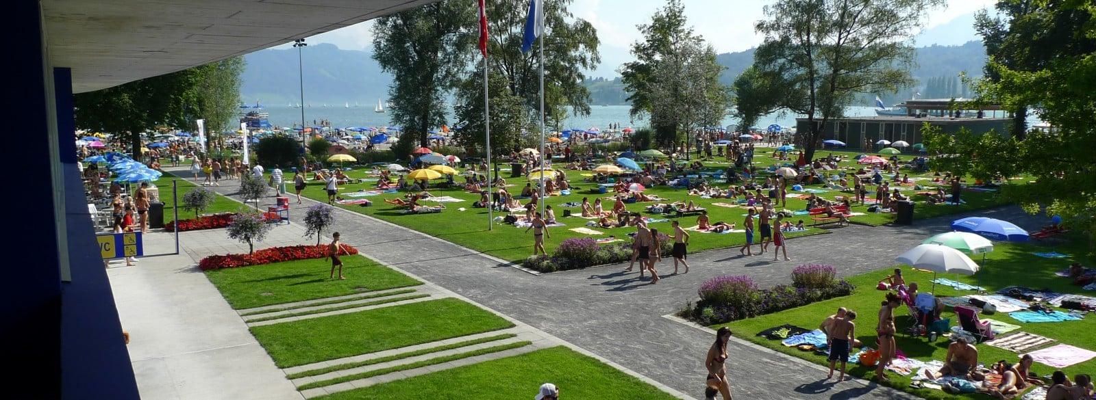 Gewusst? Als einziges Strandbad hat das Lido einen beheizten Pool mit 24° Wassertemperatur.