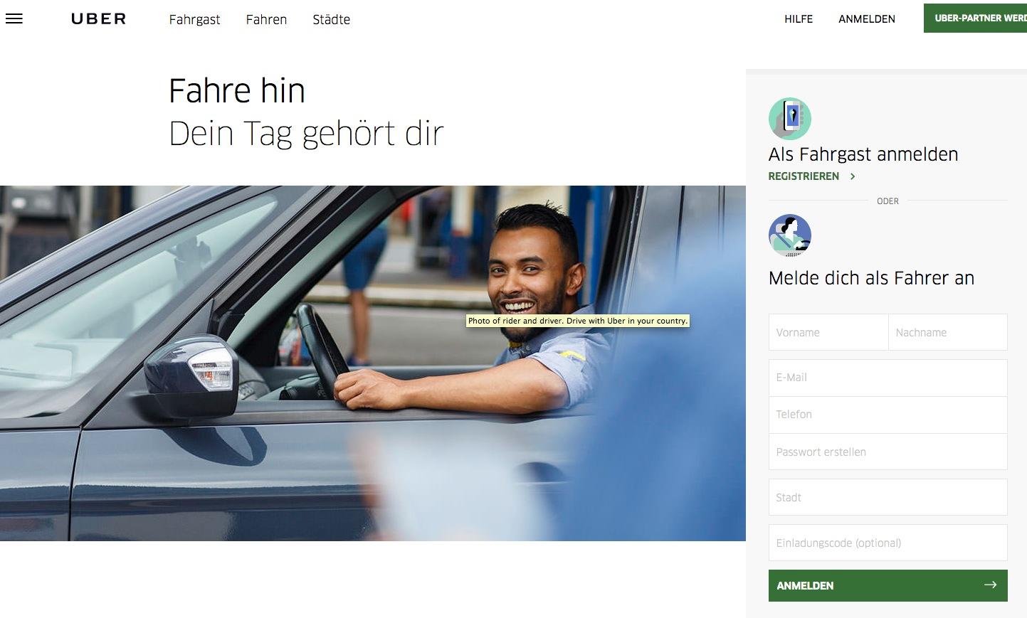 Der günstige Fahrdienst Uber deckt die Region Zug von Zürich aus ab.