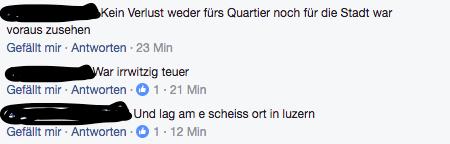 Die Kommentare auf Facebook sind alles andere als nett.