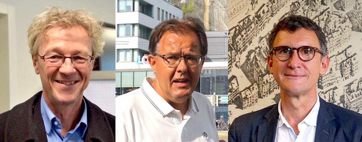Stadtrat Adrian Borgula (links), TCS-Präsident Peter Schilliger (Mitte) und Roland Koch, Leiter Mobilität bei der Stadt Luzern. (Bilder: zentralplus)