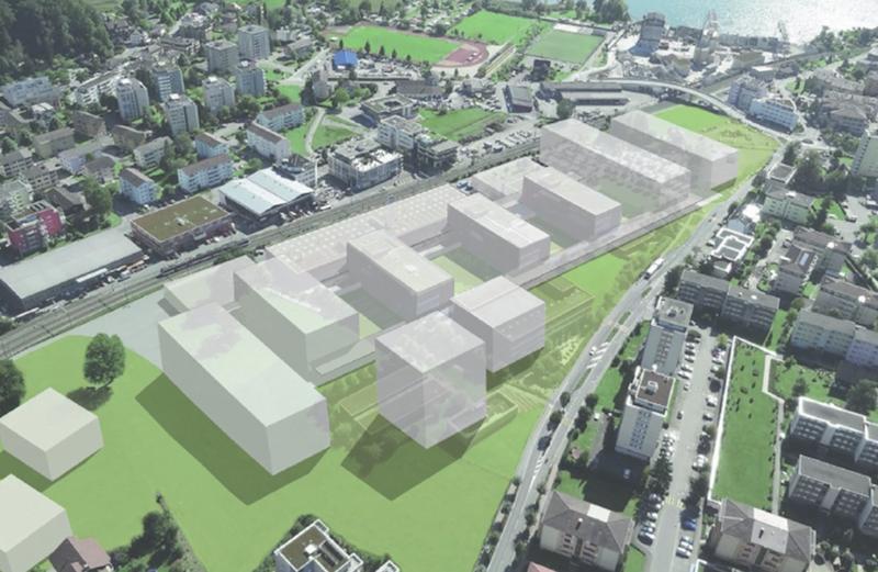Das Modell des neuen Campus in Horw.