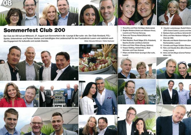 Fundus für Klatsch und Tratsch: die Party-Föteli, hier vom Club der 200.