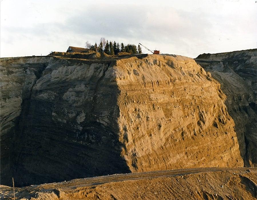 Kiesabbau in den 1980er Jahren: Hier in der Grube Betlehem in Neuheim.