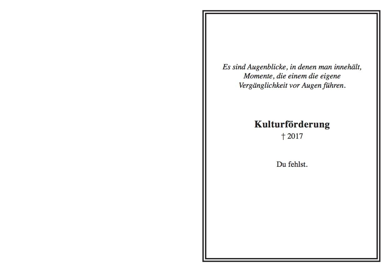 Die Trauerkarte für die Luzerner Kultur.