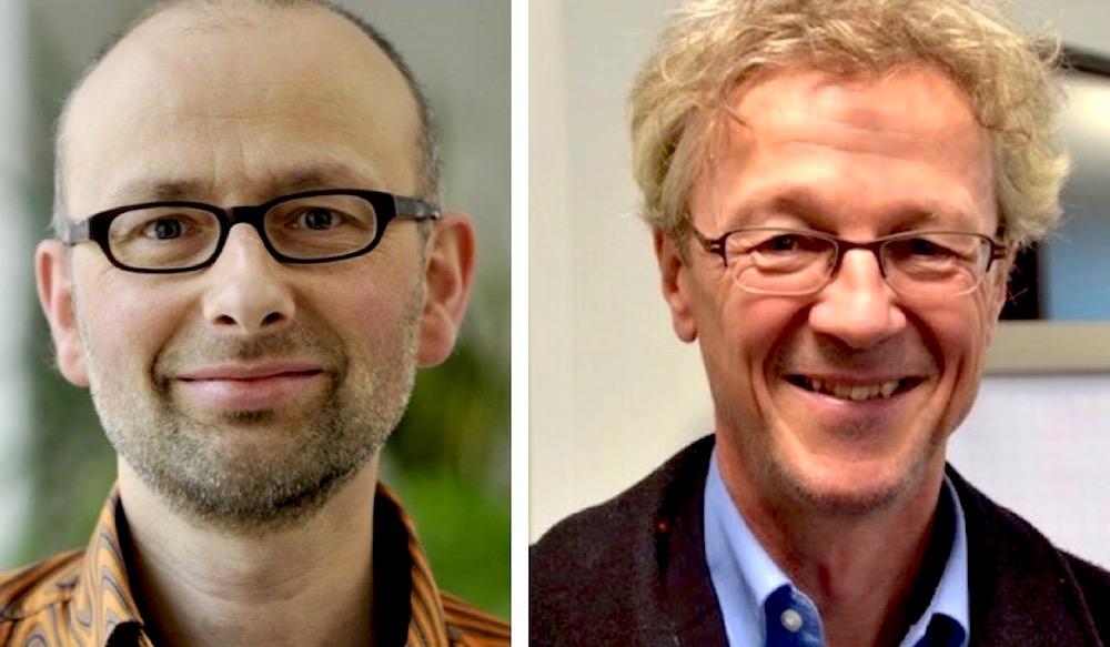 Eher skeptisch eingestellt: Michael Töngi (links), VCS-Präsident und Adrian Borgula, Verkehrsdirektor.