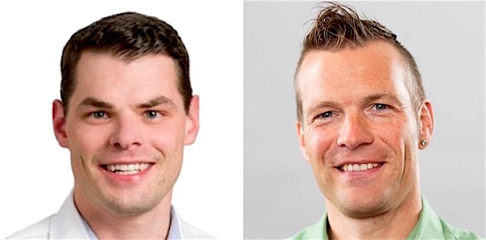 Wollen Luzern «smart» machen: FDP-Präsident Fabian Reinhard (links) und Grünen-Präsident Marco Müller.
