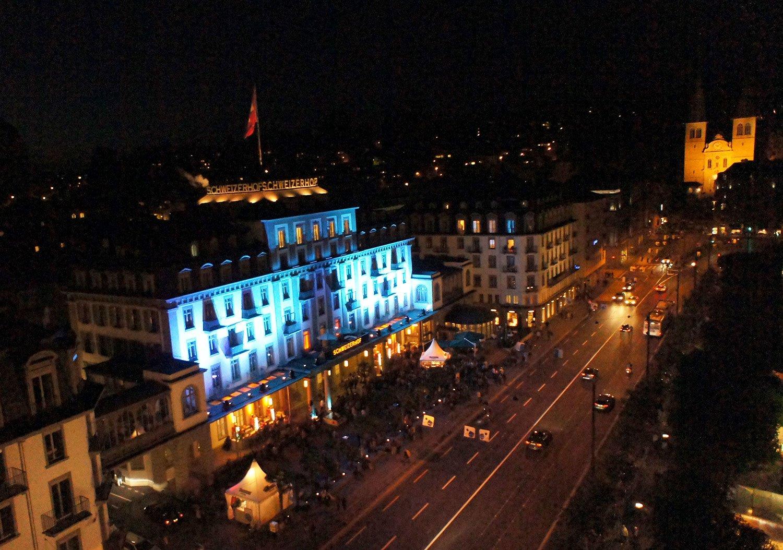 Ort für lange Nächte während des Blue Balls: der Schweizerhof.