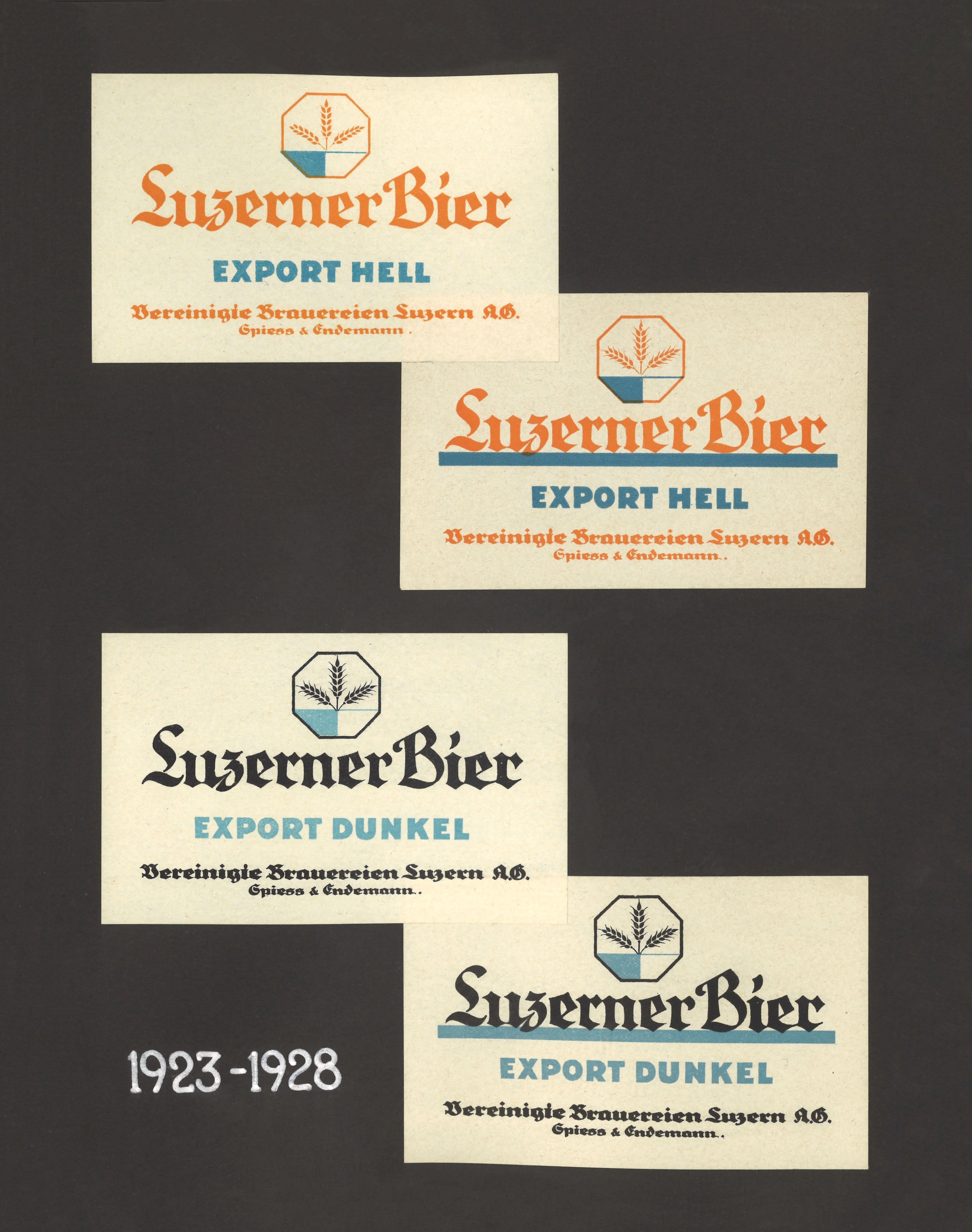 Bieretikett «Luzerner Bier»