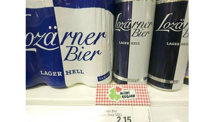 Bei Coop wird das «Lozärner Bier» in Zukunft nicht mehr als regional gekennzeichnet, es bleibt aber in den Regalen.