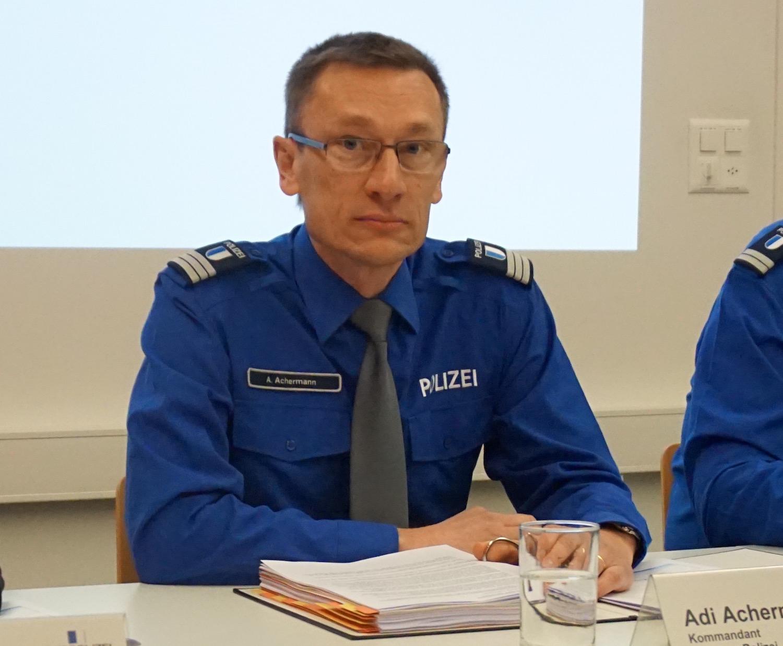 Polizeichef Adi Achermann will nichts von einem Image-Problem wissen.