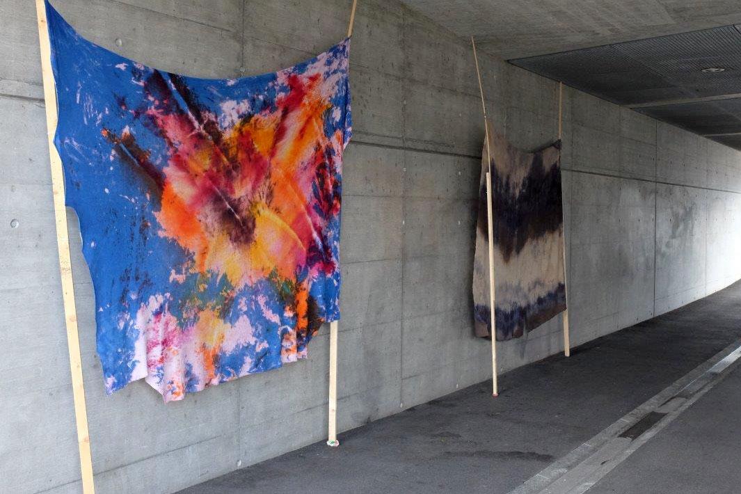 Kunst in der Velo- und Fussgängerunterführung unter der Langensandrbrücke – das war Kraut #02.