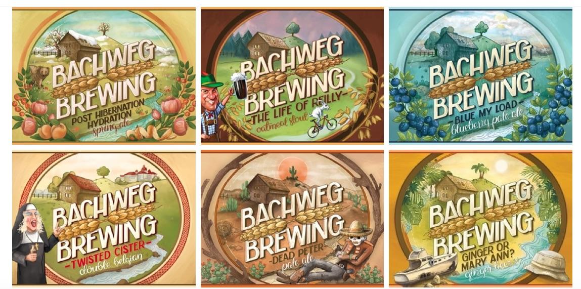 An Phantasie mangelt's nicht: Biere der Bachweg Brewing.