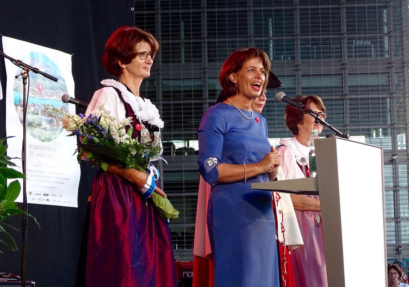 Doris Leuthard bei ihrer Rede.