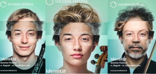 «Identität»: drei Plakat-Variationen des neuen Kommunikations-Auftritts.