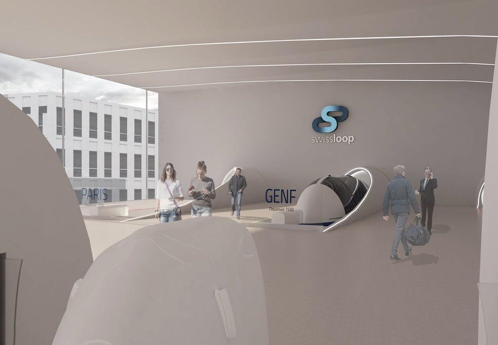So könnte eine Swissloop-Station in Zukunft aussehen.