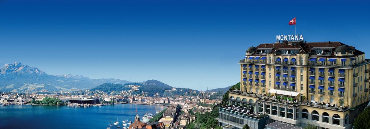 Das Art Déco Hotel Montana in Luzern.