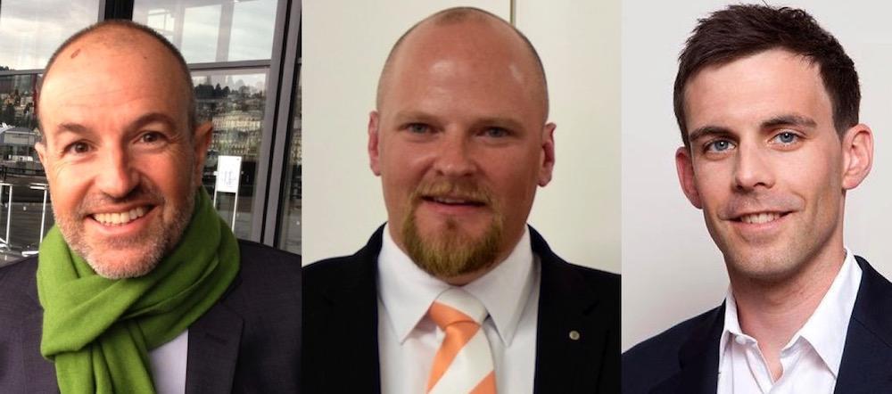 GLP-Präsident Roland Fischer, CVP-Präsident Christian Ineichen und Politologe Olivier Dolder.