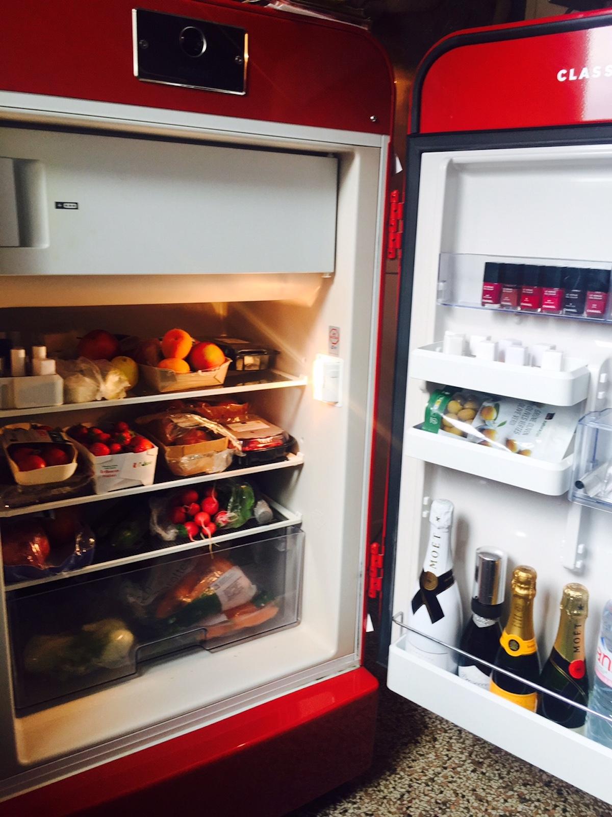 Bio und vegan, glutenfrei und basisch: Milena Hallers Kühlschrank ordentlich aufgeräumt.