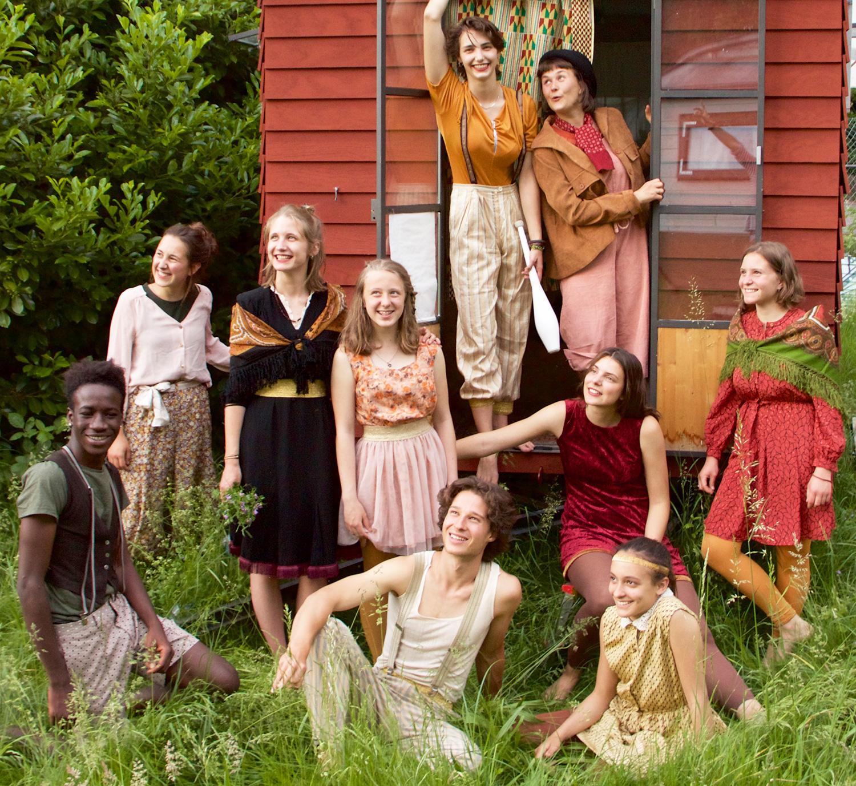 Das aktuelle Ensemble des Jugendzirkus Tortellini.