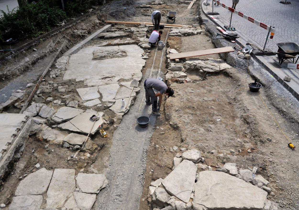 Die archäologischen Grabungen in der Kleinstadt dauern noch bis Mitte September an.