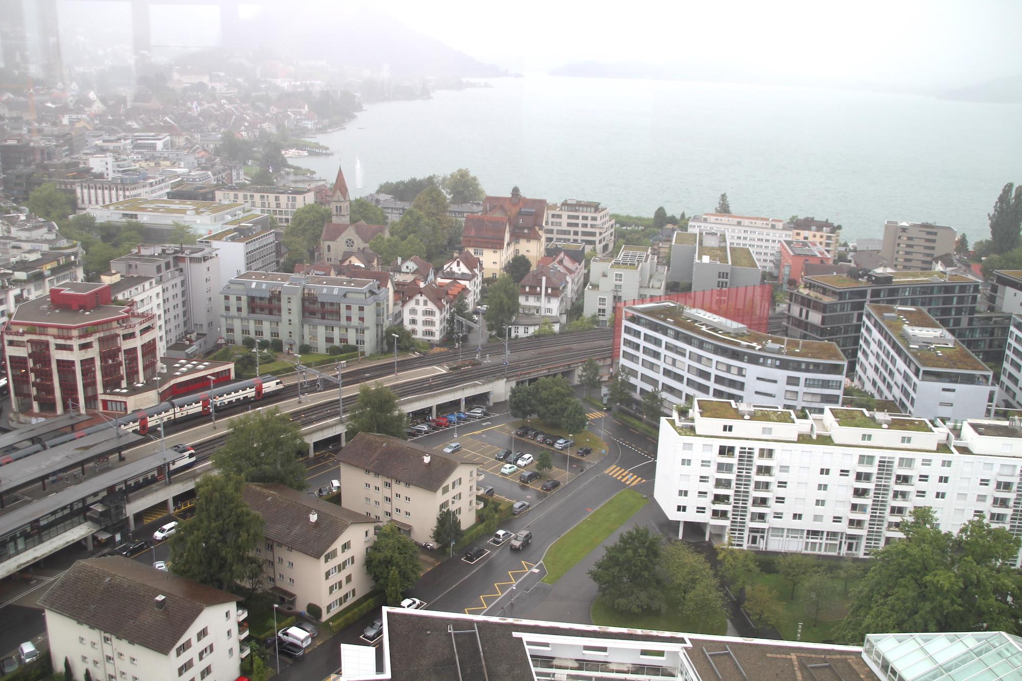 Die Aussicht vom Penthouse ist wirklich beeindruckend.