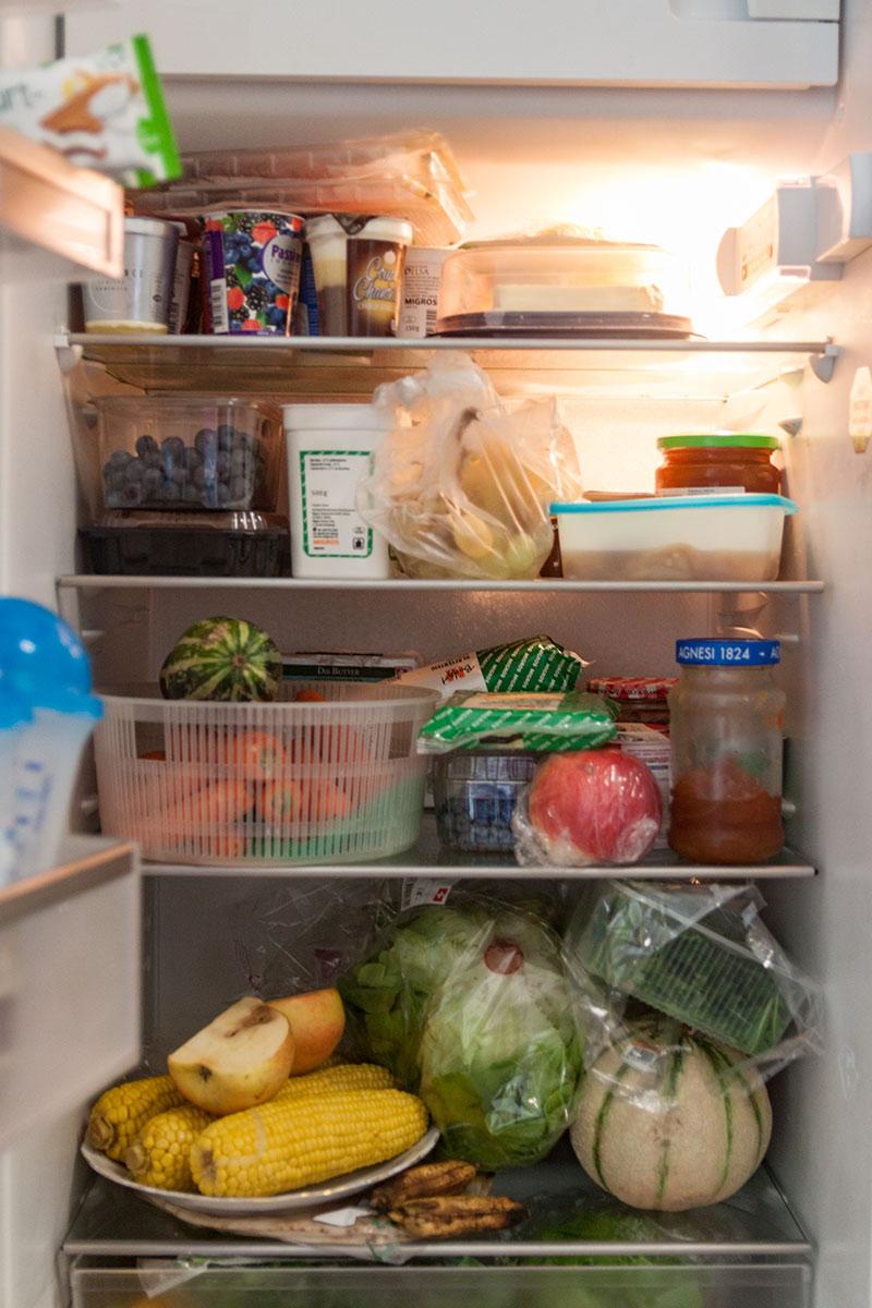 Da jubelt jeder Ernährungsberater: Der Kühlschrank von Tefik Bajrami.
