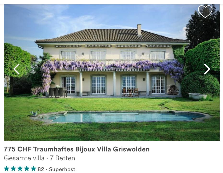 Was für eine Villa: «Nur» rund 800 Franken kostet die Nacht im 6'000-Quadratmeter-Luxustempel.