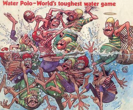 Karikatur zu den Anfängen des Sports.
