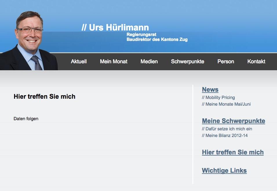 Wo finden wir den Herrn Hürlimann? Keiner weiss es.