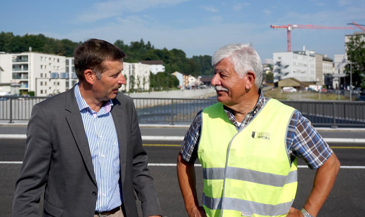 Josef Schmidli, Emmer Gemeinderat, und Gesamtprojektleiter Hans Ruedi Ramseier.