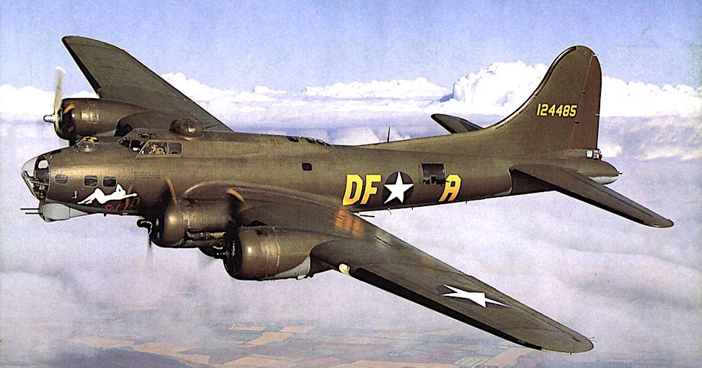 «The Flying Fortress», die «Fliegende Festung» wurde der US-Bomber wegen seiner Rundumbewaffnung genannt.