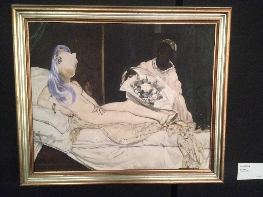 Pferdekopf auf Frauenkörper – da guckt die zweite Dame im Gemälde ziemlich erstaunt.