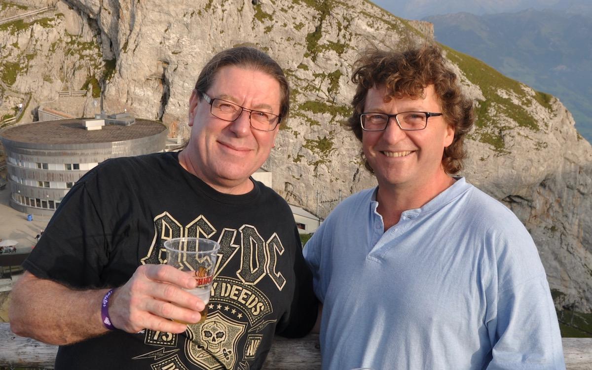 Für diese beiden Rockfans waren das «Pilatus On The Rocks» nicht das erste Konzert auf dem Luzerner Hausberg.