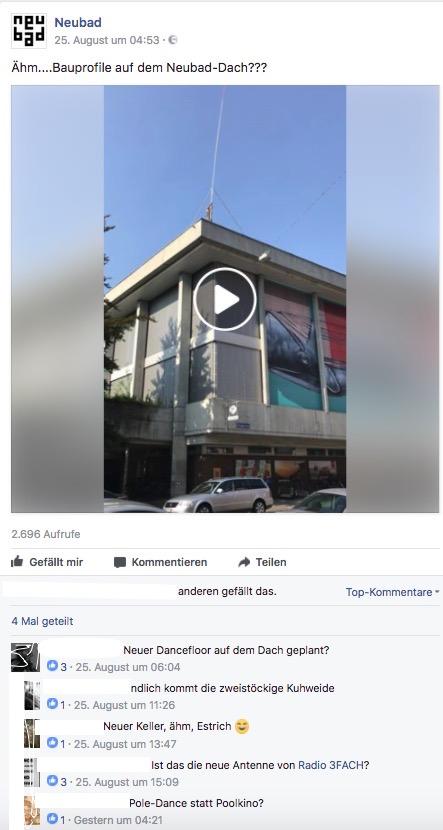 Auf Facebook entstand eine kreative Debatte über die mögliche Bedeutung des Bauprofils.