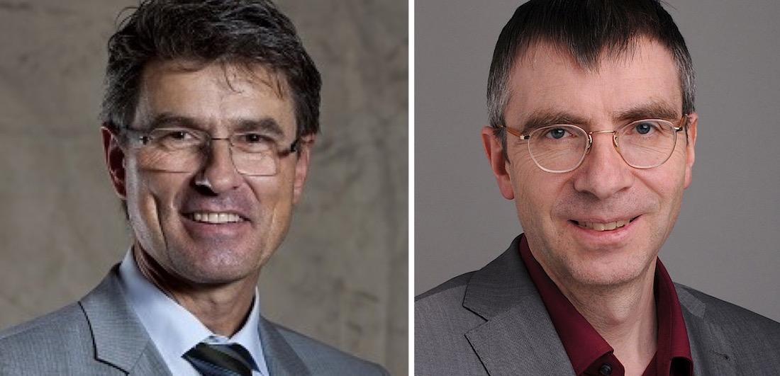 Mario Lütolf (links) ist bei der Stadt zuständig für die Bewilligungen. Andreas Tunger studierte Islamwissenschaft und arbeitet am Zentrum Religionsforschung der Uni Luzern.