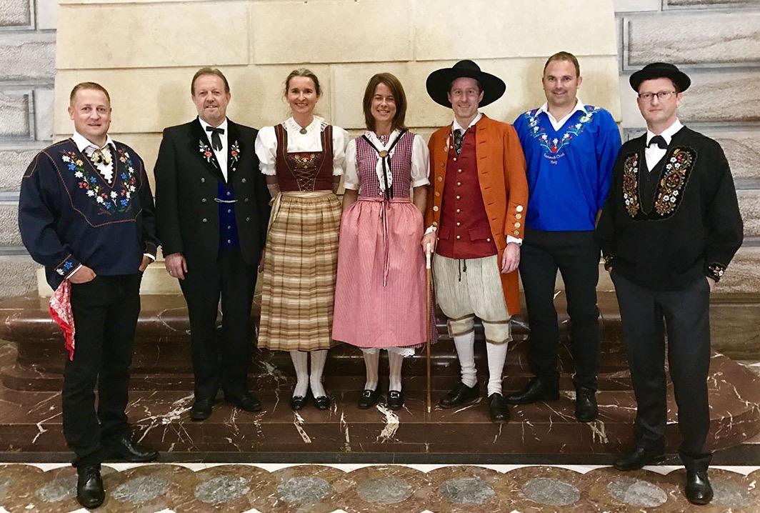 Estermann zeigt sich gerne traditionell. Hier am Tag der Trachten im Bundeshaus.