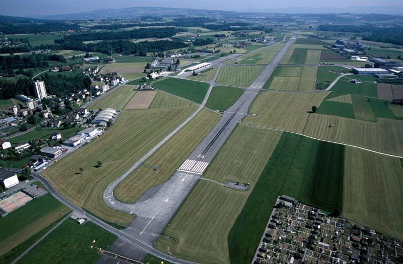 Der Flugplatz Emmen aus der Vogelperspektive.