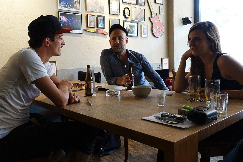Clubs, Zuschauer, Bands: Es gibt genügend Gesprächstoff für Marco Liembd (Schüür), Urs Emmenegger (Neubad) und Nadine Rumpf (Südpol).