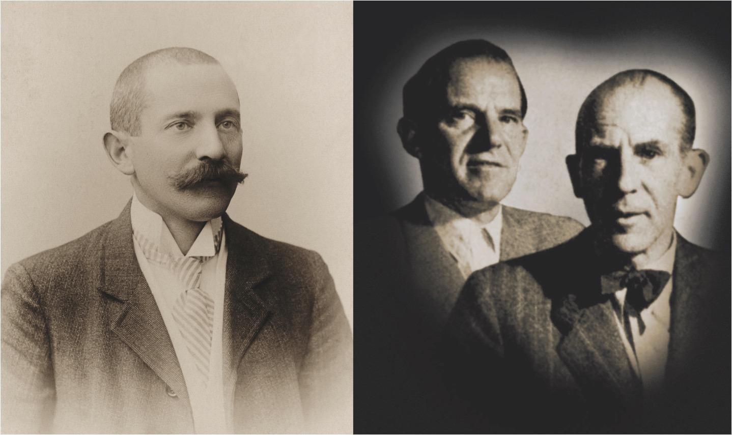 Gründer Carl Friedrich Bucher (links) und seine beiden Söhne Carl Eduard und Ernst.