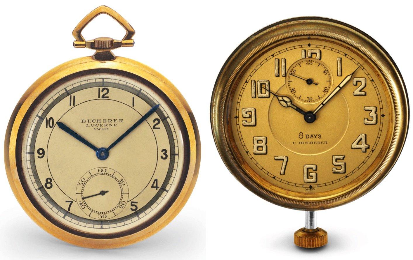 Jeder Herr besass eine Taschenuhr. Rechts ein Modell, das man einmal aufziehen konnte und das dann acht Tage lang tickte.