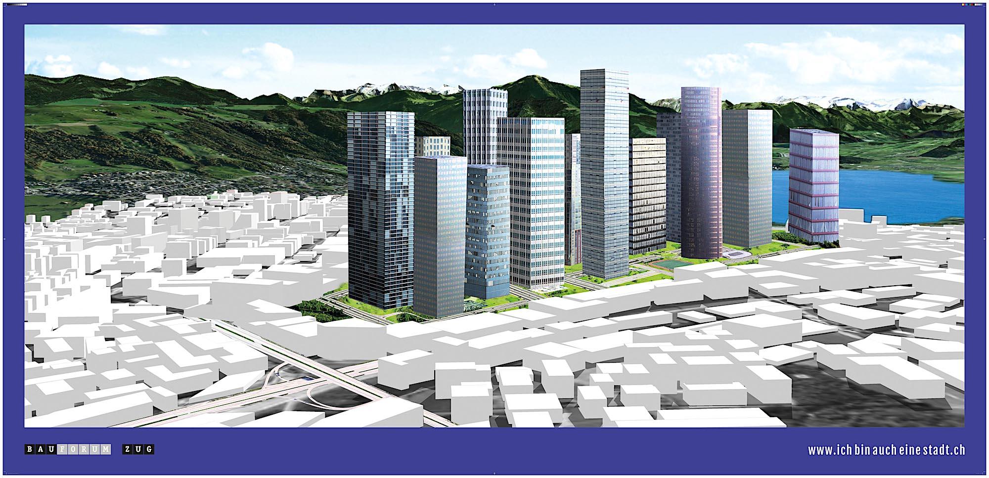 Die «Downtown»-Frankfurt-Vision am Zugersee.
