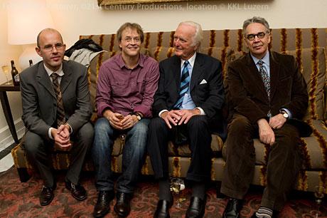 Pirmin Zängerle (links), Ludwig Wicki, Martin Böttcher und Howard Shore.