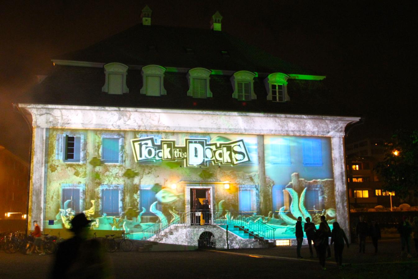 Das alte Bürgerspital auf der Schützenmatt in Zug: Backstage für Rock the Docks.